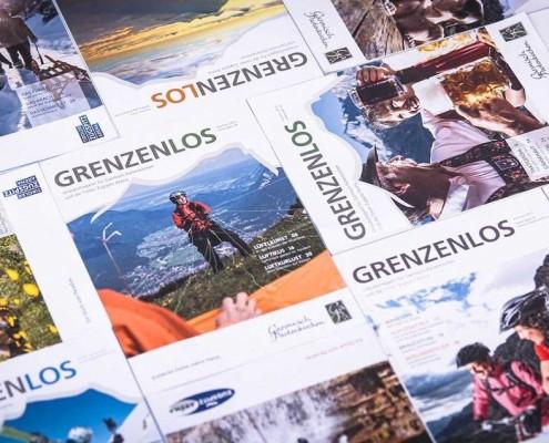 GRENZENLOS, das offizielle Urlaubsmagazin für die Tiroler Zugspitz Arena und die Region Garmisch-Partenkirchen