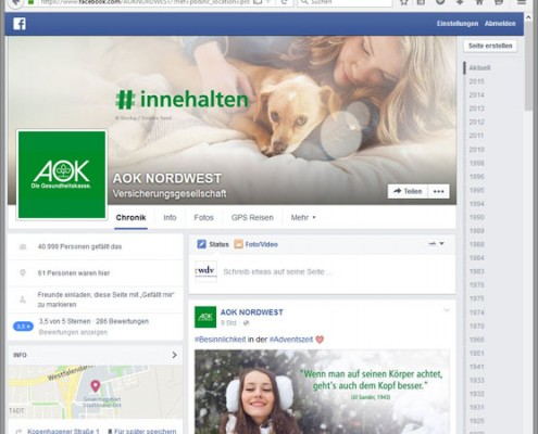 facebook AOK NORDWEST
