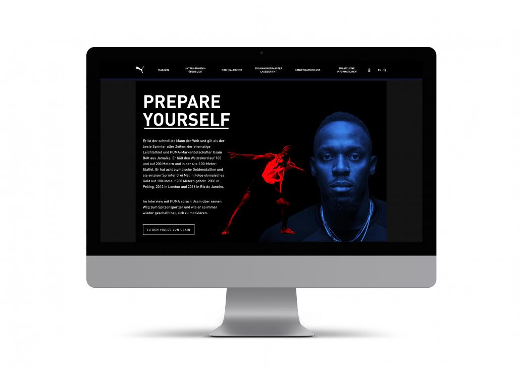 Online Report 2019 für Puma SE